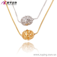 Fashion New Gold and white Multilayer Women's Beaded Necklace Chain Multi Color Chain Necklace