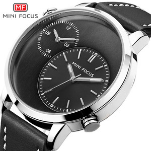 Build Your Own Brand Logo Wristwatches Luxury Men Watch with Big Round Face for New Year Gift