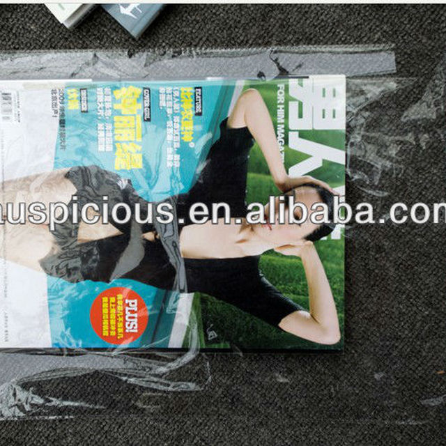 Crystal clear plastic bag with self adhesive strip