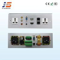 JS-WP301 Aluminium USB+HDMI+AV+VGA+RJ45+RJ11+AC Power Wall socket