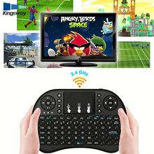 Original Factory Price Rii I8 2.4ghz Mini Wireless Qwerty ToucH.Pad Keyboard Mouse For Smart Tv Box