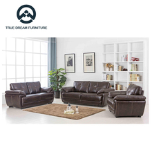 Leather wooden sofa set designs living room furniture