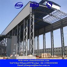 steel frame pre engineered double slope workshop building