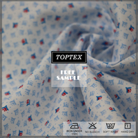 cotton elastic poplin printed fabric for shirt