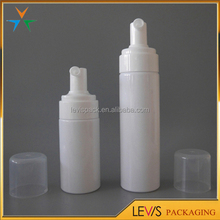 Round cylinder plastic sponge applicator cosmetic foaming bottles