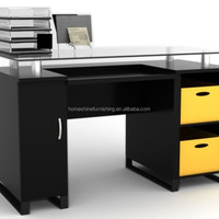 HN1012 Glass Top Office Table File