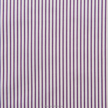 Luthai 100% cotton poplin purple white stripe men's dress shirt fabric