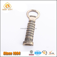 Custom Zinc Alloy Personalized Antique Tower Of Pisa Bottle Openers