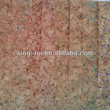 artificial leather/cork/real wood material in guangzhou for shoe lining( corchos para sandales)