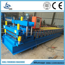 Glazed step tile roofing panel roll forming machine double layer