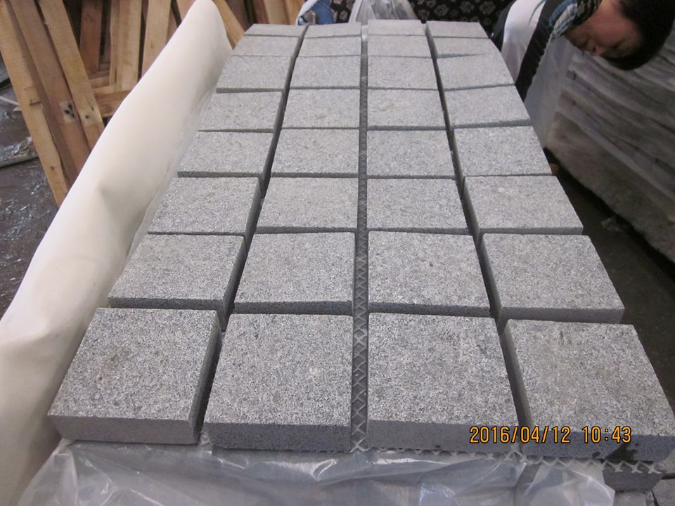 china G654 ash grey granite cheap patio paver stones for sale