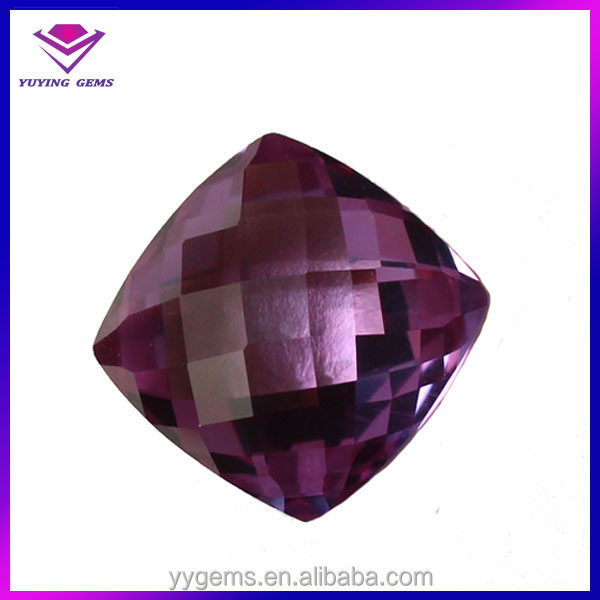 Wholesale AAA checkerboard cut synthetic alexandrite stones
