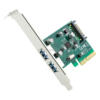 PCI-E 4x Express to USB 3.1 USB-C Type A Dual Port Add on Expansion Card Adapter With Low profile Bracket