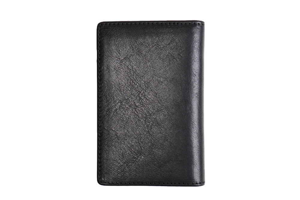 Italian vegetable tanned leather bi-fold men card holder wallet real leather men wallet