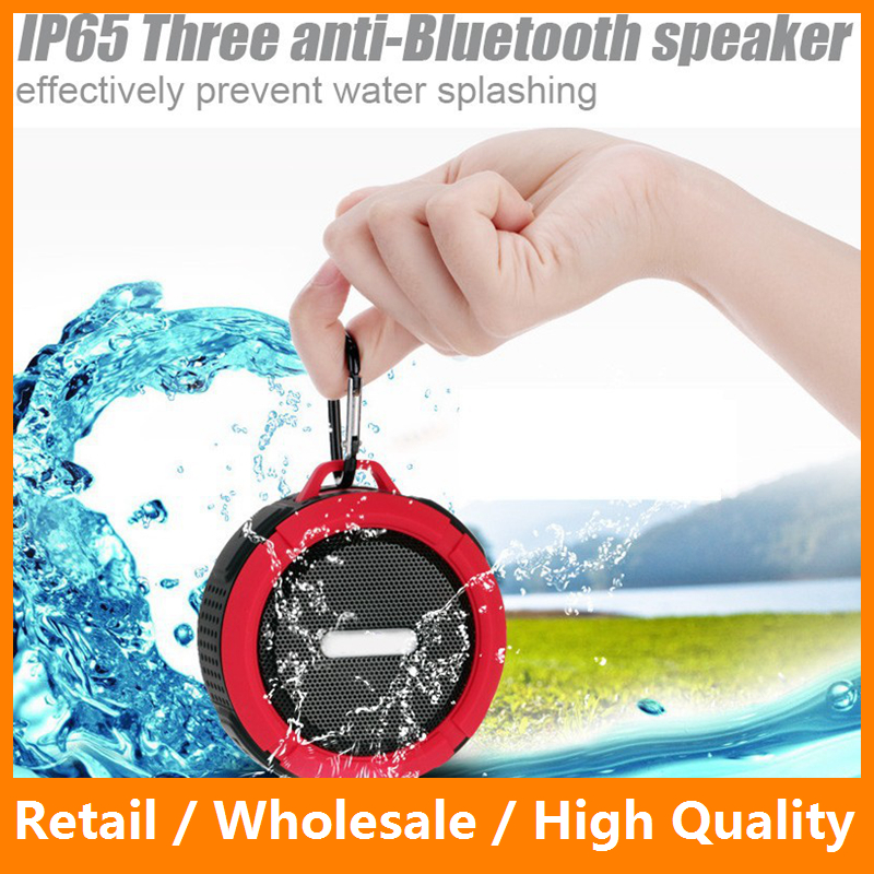 Bluetooth Speaker Mini Bluetooth 4.0 Sound Box 3D Surround IP65 Waterproof Subwoofer Stereo Suport TF Card with Holder Hook