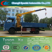 5 tons folded boom truck mounted crane, overhead mobile crane, mobile hydraulic telescopic crane