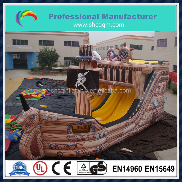 2016 hot sale inflatable pirate ship,giant inflatable pirate ship slide