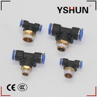 PB Male hydraulic Pus Fittings tube Pneumatic fitting for pipe system