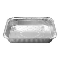 Rectangular shape excellent quality Aluminium Material food grade disposable aluminium foil container