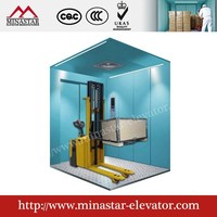 Cargo lift Freight Elevator with speed 0.5m/s vertical hydraulic cargo lift