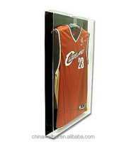 Deluxe Acrylic Small Jersey Display Glass Frame Cabinet Case with Black Back