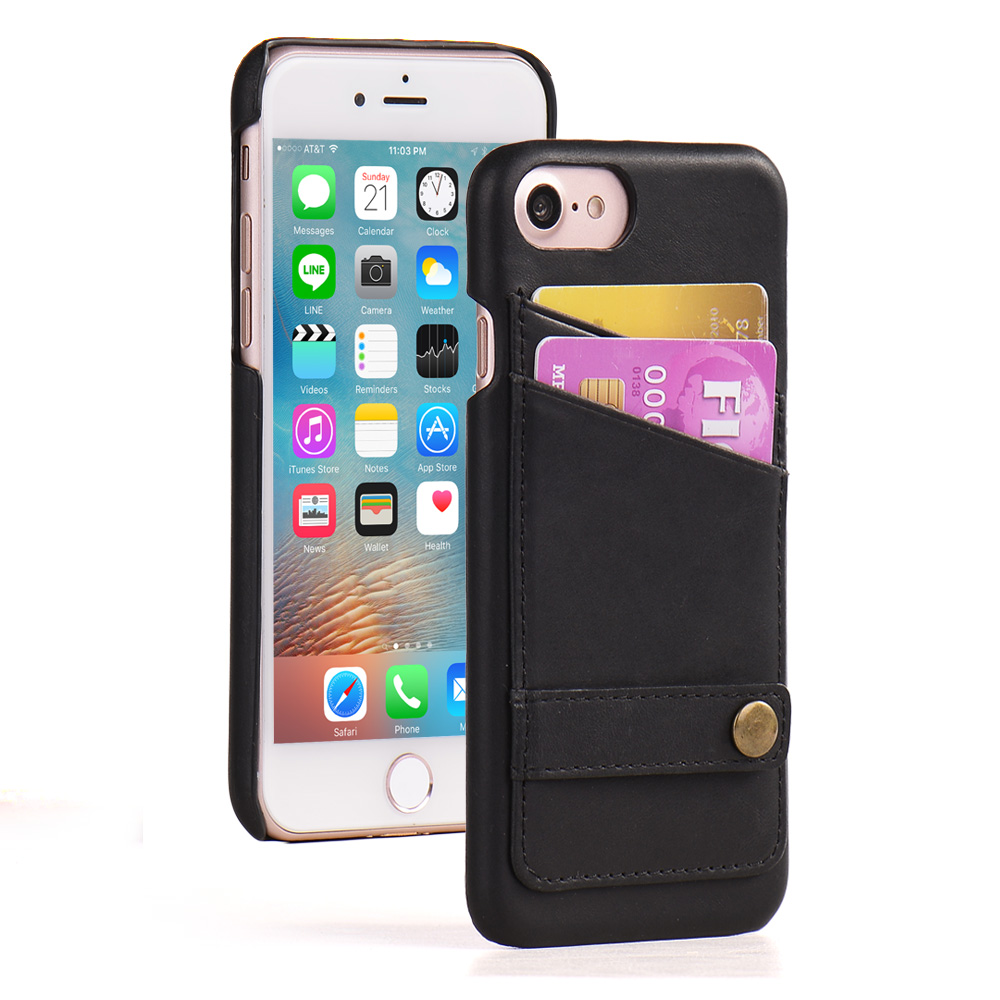 PU back cover PC case for iphone 7plus