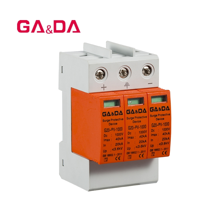 DC Power Surge Protector Arrester Device 3P 3.0KV for Lightning Protection NEW