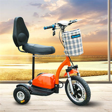 800w Zappy electric tricycle Competitive Price Aluminium Alloy 16 inch Foldable Three Wheel Electric Scooter