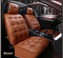 Alibaba Wholesale Interior Accessories Brown Luxury Leather Designer Car Seat Cover