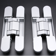 Smooth Right hand and left hand applicable Zinc alloy three direction adjustable concealed hinge