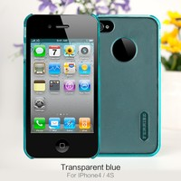 Blue Transparent Colorful PC Phone Case For iPhone 4 4S Wholesale