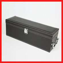 PU leather coated wine packaging box