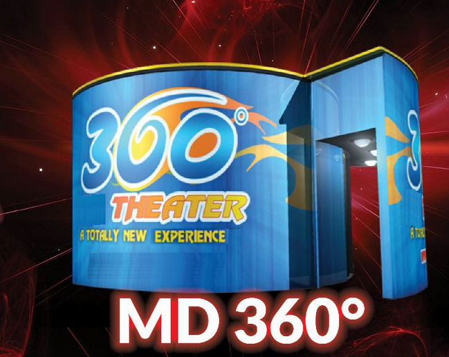 8D cinema with 360 degree screen - 12D/11D/10D/9D/8D/7D/6D/5D/4D/3D cinema/movie/film