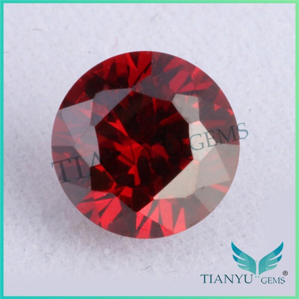 Hotsale dark garnet round shape cubic zircon stone fashion jewelry loose gemstone akik stone