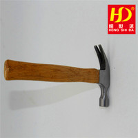 safety claw hammer with wooden handle