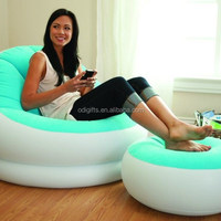 Inflatable Lounge With Ottoman With Chair