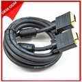 New Design gold connectors VGA Cables with two ferrites