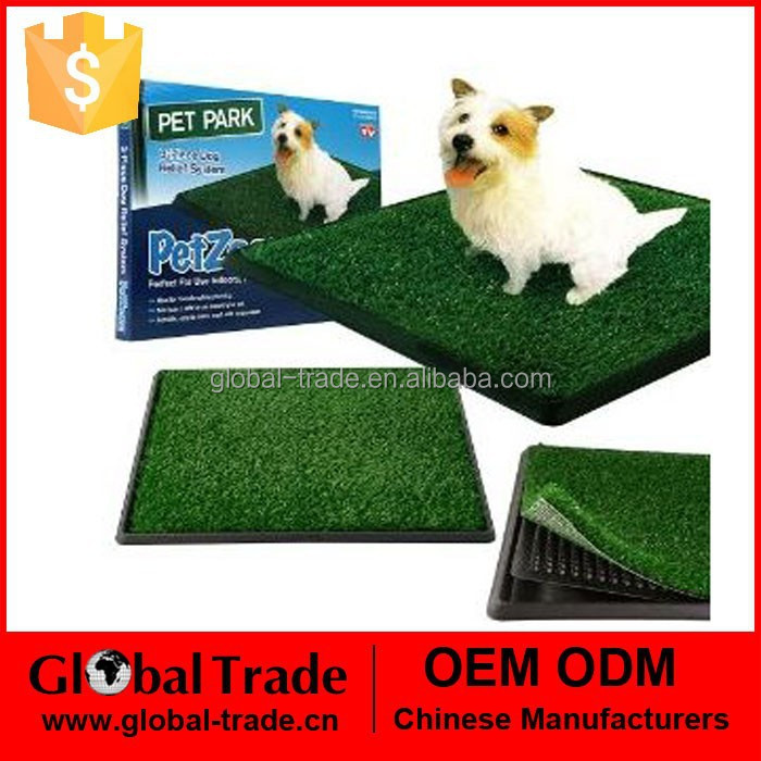 H0158 Indoor Pet Toilet Dog Grass Restroom Potty Training with Tray
