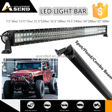 "China factory for Jeep Wrangler 288w offroad straight led bar light 50"" spot flood combo beam 50 inch 4x4 curved led light bar"