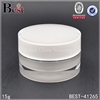 1/2 oz plastic cosmetic jar white make your own brand