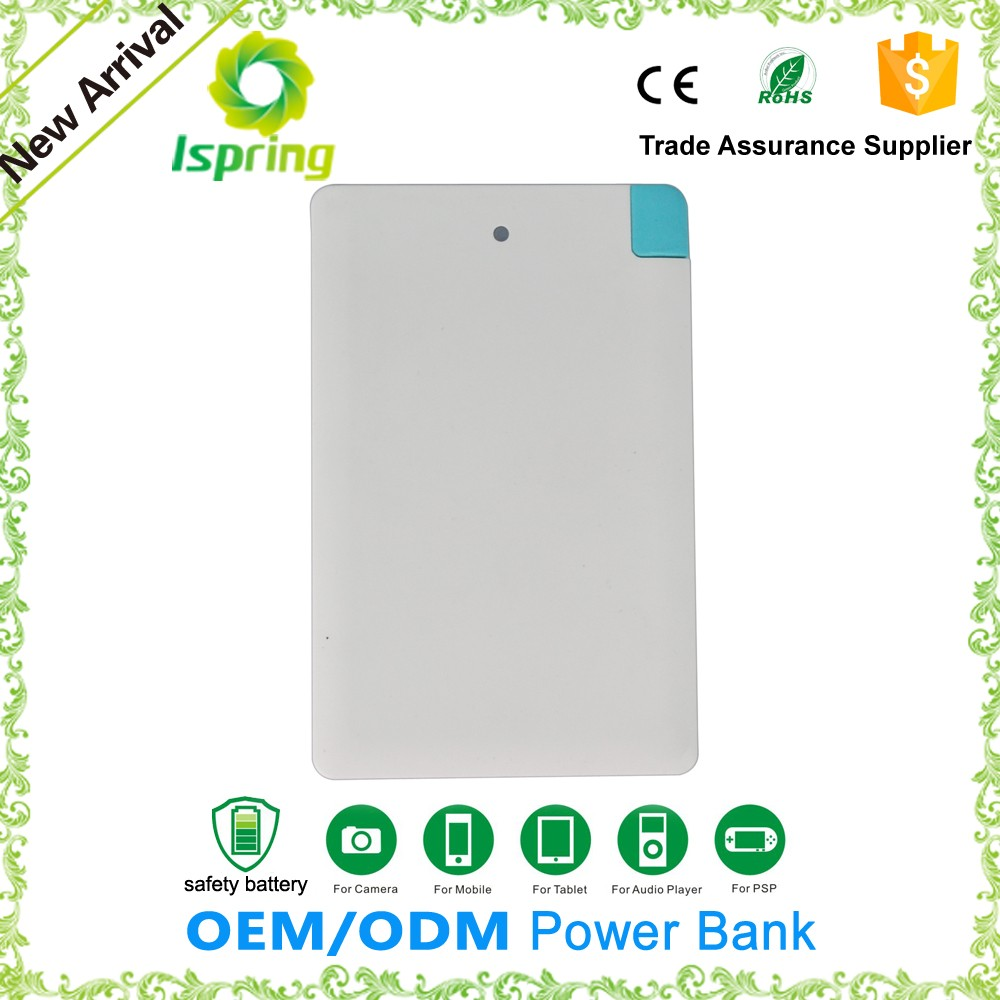 Credit card size rechargeable cheap power bank