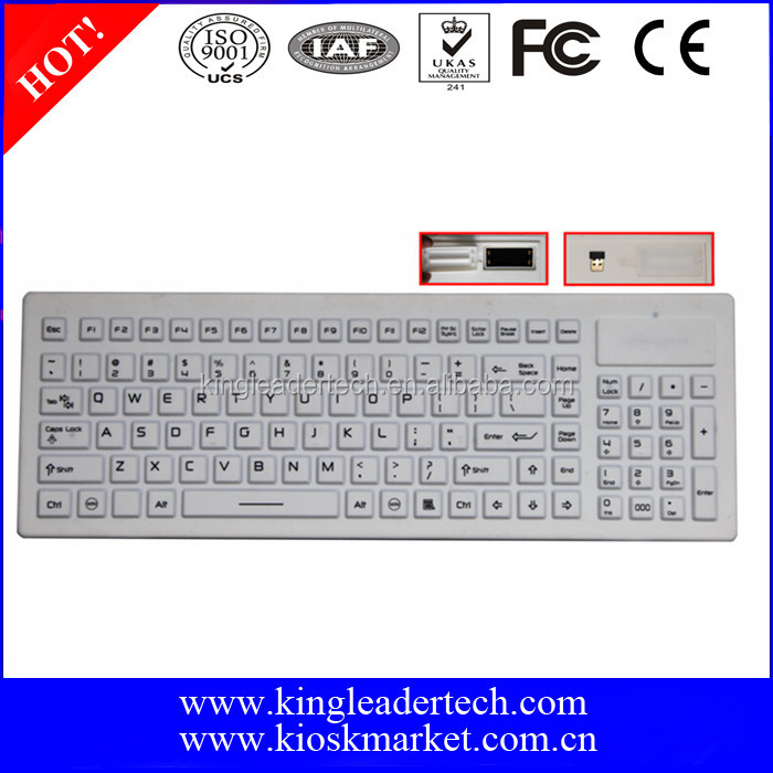 Waterproof silicone rubber computer keyboard