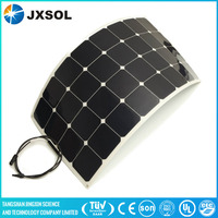 cheapest sunpower 100w Semi flexible solar panel with certificate
