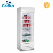 290L 110W Commercial Glass Door Beverage Display Refrigerator