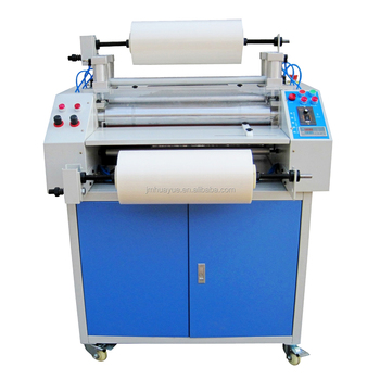 Pneumatic double sided hot roll to roll laminating machine price