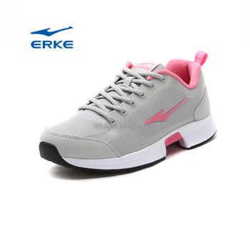2017 summer grey black school ERKE brand wholesale sports running shoes for womens
