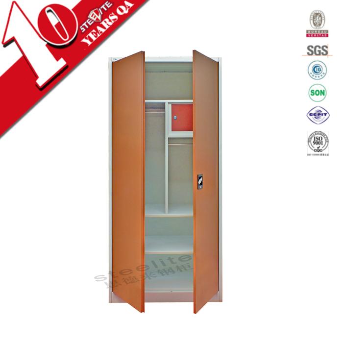 Very cheap furniture india orange steel almirah with for Very cheap furniture