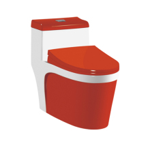 Sanitary Ware China Red Porcelain Luxury Toilet Set