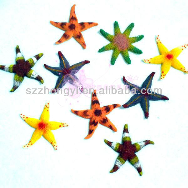 export plastic solid starfish model toys for children / plastic marine animal custom child toy