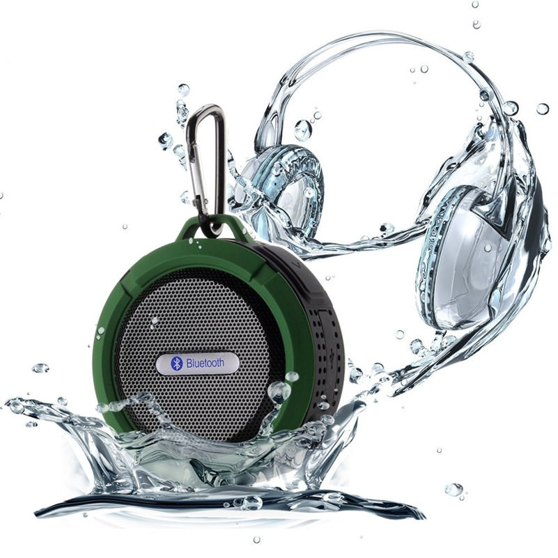 New C6 Wirless Portable Mini Waterproof Bluetooth Speaker with Suction Cup Bluetooth Speaker